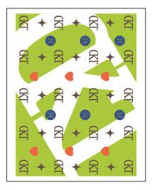 テニスクラブのグッズ作成 コンパクトミラー