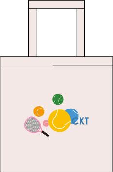 テニスクラブのグッズ作成 トートバック